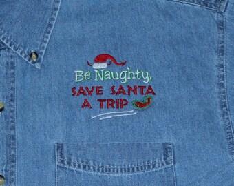 Denim Christmas Shirt---ONLY 1 LEFT
