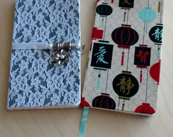 """Small 3.5""""x5.5"""" Fabric Covered Notebooks/Sketchbooks"""