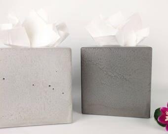 Concrete Tissue Box Cover / Kleenex Tissue Box Cover / Square Tissue Box Cover