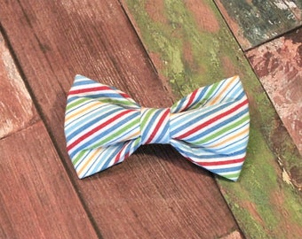 Seersucker Bow Tie ONLY, dog bow tie, cat bow tie, pet bow tie, collar bow tie, wedding bow tie