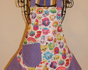 Child's Small Purple Shopkins Apron