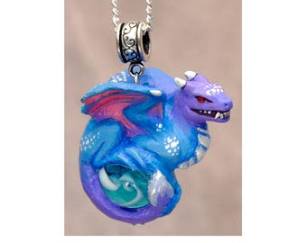 Diamond Dust Snarl - Collectible Dragon Art Ornament Necklace
