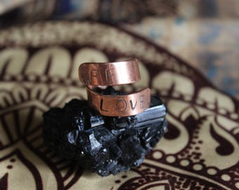 Be Love Ring - adjustable copper ring