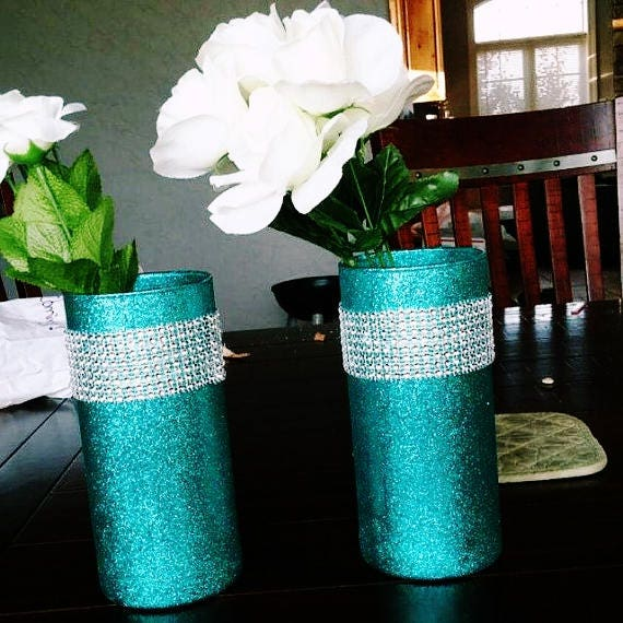 Decoration Ideas Delectable Image Of Decorative Colorful: 5 Turquoise Wedding Centerpieces Turquoise And Silver Teal