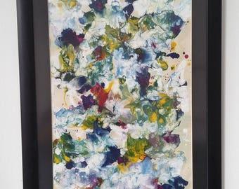 Dead Flowers - Abstract paint / 63cm x 44cm