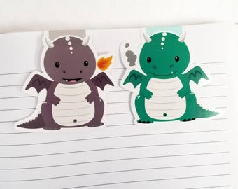 Dragon Magnetic Bookmarks, Kawaii Baby Dragon Planner Clip, Cute Dragon Planner Accessory for Books, Book Lovers, Gift for Teachers,