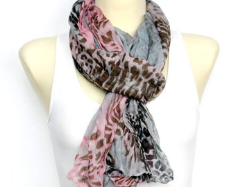 Printed Animal Scarf Present Scarf Womens Boho Scarf Fashion Accessories Spring Scarf Boho Women Scarves Gift for Women Christmas Gift