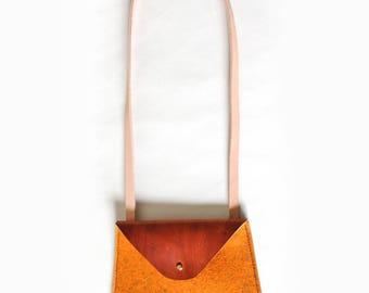 Marigold Felt & Leather Crossbody Bag