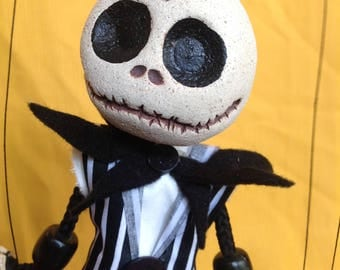 """Jack Skellington puppet marionettes from Tim Burton's """"The Nightmare Before Christmas"""""""