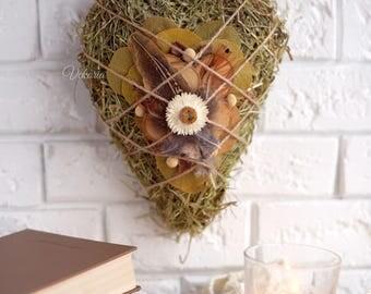 Wall decoration dried flowers, Valentine's Decoration, Wedding Decoration, Love Decor, Farm house decoration, Kitchen decoration