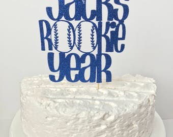 Rookie year cake topper/ Personalized Baseball cake topper/ baseball smash cake topper/ baseball birthday party