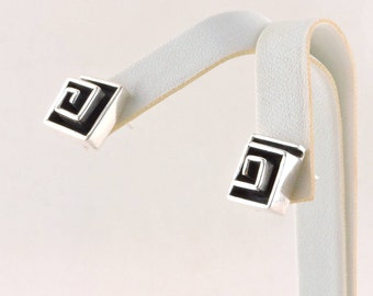 Sterling Silver Solid Tapered Square Earrings