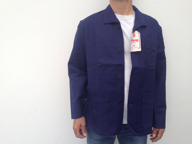 1950 Vintage French workwear blue work jacket french work