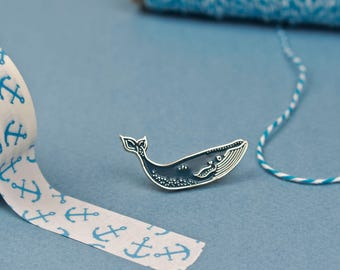 Blue Whale Pin / Cute Pin / Whale Pin / Whale Enamel Pin / Blue Whale Pin Badge / Blue Whales / Sea Pin / Nautical Pin / Humpback Whale Pin