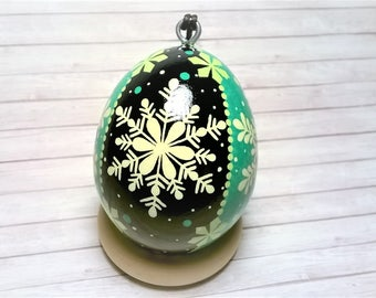 Pysanky, Christmas Tree Ornament, Pysanky ornament, Christmas Pysanky, Snowflake Ornament, Ukrainian eggs, Pysanka, Christmas ornament