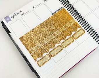 Mauve-lous // Glitter Header Sampler (Glossy Planner Stickers)