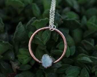 Amor Eterno Pendant | Celestite | Celestite Pendant | Raw Crystal | Celestite Raw Crystal | Copper Pendant | Ready-To-Ship