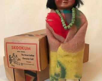 Indian Skookum Doll in Box