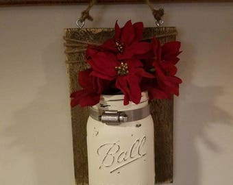 painted mason jar plaque