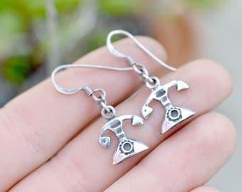 Sterling Silver Retro Telephane Dangle Earrings, Rotary Phone Earrings, Sterling Silver Rotary Telephone Earrings, Telephone Dangle Earrings
