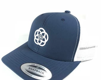 EPCOT Center Logo Hat - Retro Style Trucker Hat with Mesh Back and Embroidered with EPCOT logo - A Retrocot Original