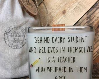 Teacher Gift * Back To School Gift * Gifts For Teachers * Teacher Appreciation * Custom RequestTeacher Candle * Personalized Teacher Gift