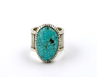 Natural Birdseye Kingman Turquoise Ring by Turquoise Kingdom