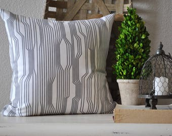 Modern Farmhouse Gray and White Pattern Pillow Cover | Modern Print Pillow Cover | White and Gray Print Pillow Cover