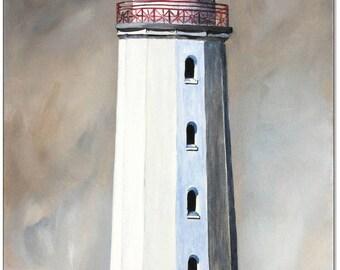 Original acrylic on canvas: Lighthouse Dornbusch Hiddensee / 30 x 60 cm