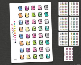 Planner Icon Stickers  - Repositionable Matte Vinyl