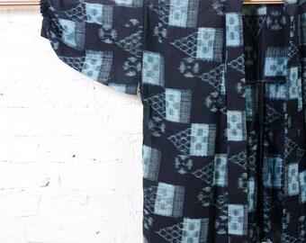 Mikky indigo kimono jacket l Vintage japanese boro haori