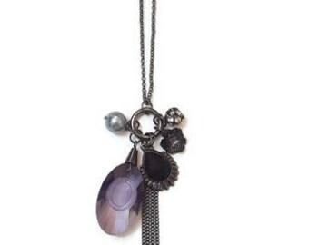 Long Charm Necklace - Vintage Charm Necklace - Long Vintage Necklace - Long Necklace With Charm - Long Pendant Necklace - Pendant Necklace