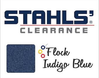 "9"" x 10 Yards - Stahls' Flock - Craft Roll - Iron-on - Heat Transfer Vinyl - HTV - Indigo Blue"
