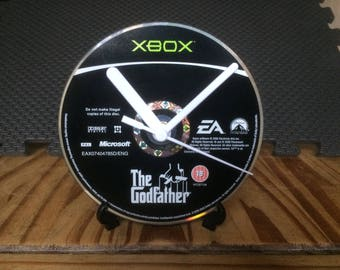The Godfather - CD Game Disc Clock - FPS Xbox Mafia Gaming Clock Gift