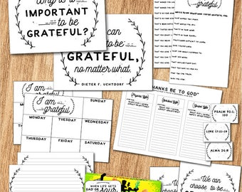 "October - LDS Young Women Lesson Packet ""Why is it important to be grateful?"" Come, Follow Me Printables and Teaching Helps"