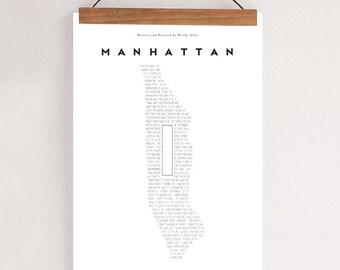 """MANHATTAN, Original Art, Woody Allen Inspired Minimalist Movie Poster Print 24 x 36"""""""