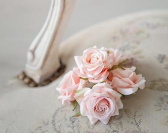 Mini Roses 24 Soft Pink Very Beautiful Roses Silk Flowers Silk Rose Artificial Flowers DIY Wedding Decor Hair Accessories Flower Supplies