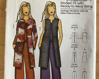 Butterick B5473 - Connie Crawford Knee Length Jacket, Vest, and Pants - Size XS S M L XL