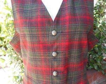 Vintage Pendleton Womens Tartan Plaid Vest - Size Medium