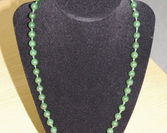 Vintage Canadian Jade Bead Necklace