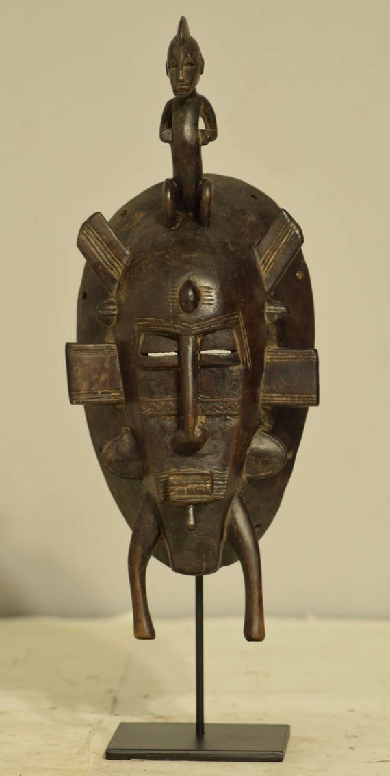 African Mask Senufo Tribe Ivory Coast Handmade Ancestor Figure Worship Spiritual  Fertility Harvest Initiation Senufo Mask