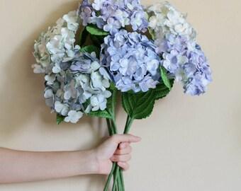 Paper Hydrangea, Mulberry Paper Hydrangea, Blue Hydrangea, Home Decoration Hydrangea, Hortensie Set of 6