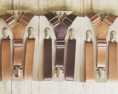 Rustic Wedding Suspenders Groomsmen Brown Leather Suspenders Mens Rustic Wedding Suspenders Boys Suspenders Ring Bearer