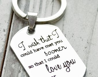 I Could Love You Longer Memorial Gift - Personalized Custom Engraved Key Chain