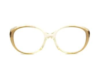 Rodenstock Bettina vintage woman glasses round panto frame granny style transparent orange
