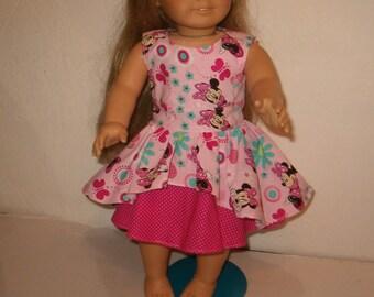 American Girl Doll Dress, Minnie Mouse - 18 inch doll - AG Doll Dress
