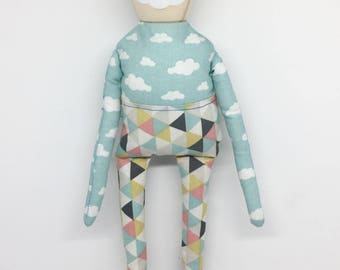 Wood and Fabric doll - Cara de Nube