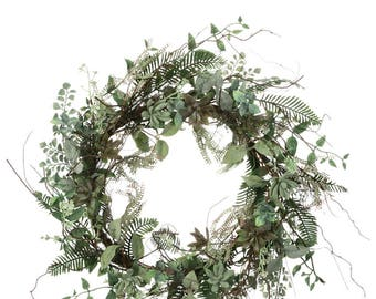 Succulent Foliage Wreath 22""