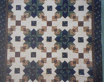 Cathedral Window Quilt Pattern by Wooded Pines Designs