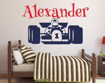 Racing Wall Decals Etsy - Formula 1 wall decals